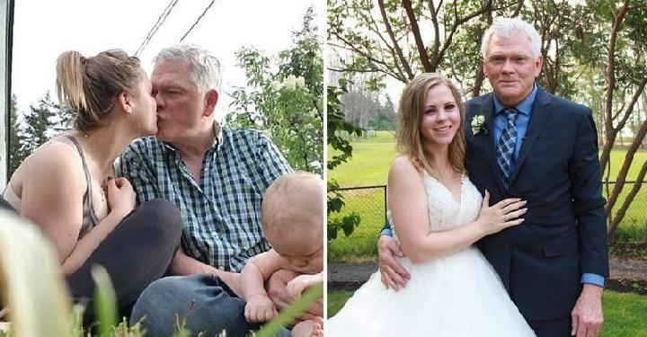 Неравный брак: муж страше жены на почти 50 лет