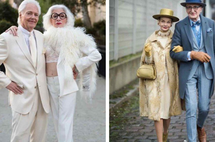 7 пожилых пар, которые вовсе не состарились, а стали моднее и красивее. Если седина, то только такая!