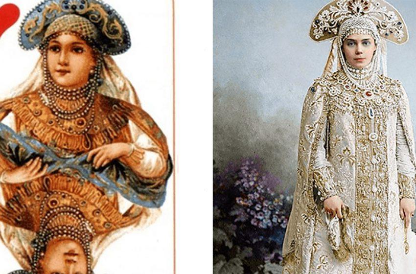 Реальные персонажи с бала Романовых, с которых была срисована карточная колода «Русский стиль»