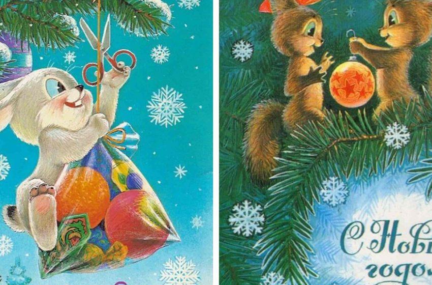 «Теплые воспоминания»: Наши любимые, добрые новогодние открытки