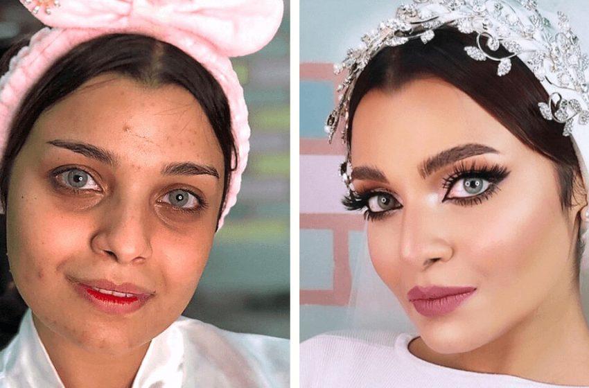«Со свадебным макияжем и без»: какой макияж предпочитают арабские невесты