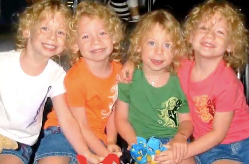 «Спустя 16 лет»: как сегодня выглядят смеющиеся четверняшки из забавного видео